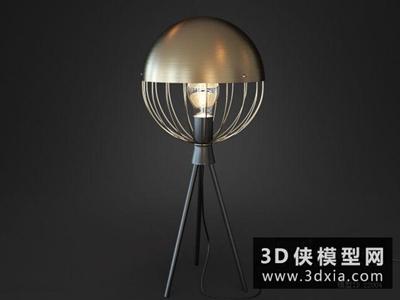 现代台灯国外3D模型【ID:829436987】