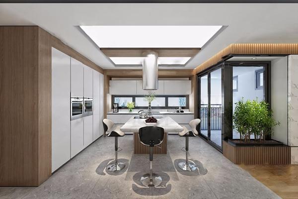 現代廚房3D模型【ID:546258344】