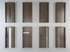 现代实木单开门组合3D模型【ID:727806581】