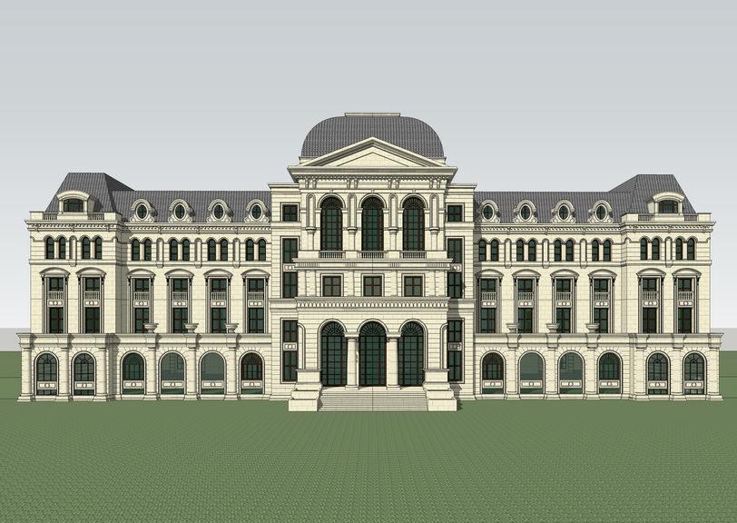 法式酒店SU模型【ID:336419581】