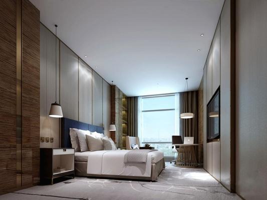 酒店商务房3D模型【ID:427967624】