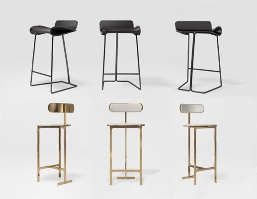 现代吧椅3D模型【ID:327931165】