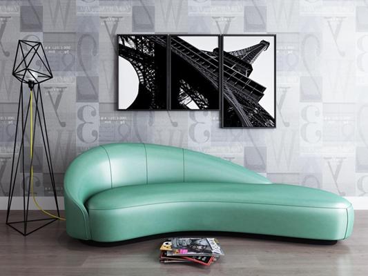 现代异形多人沙发3D模型【ID:928161844】