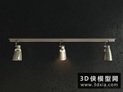 軌道射燈國外3D模型【ID:929711173】