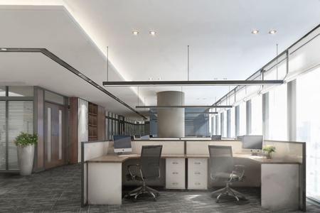 現代辦公室3D模型【ID:934735125】