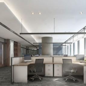 现代办公室3D模型【ID:934735125】