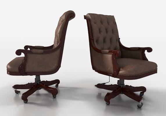 欧式老板椅3D模型【ID:220619837】