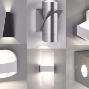 现代简约壁灯组合3D模型【ID:527800997】