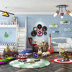 儿童房玩具总动员组合3D模型【ID:528024203】