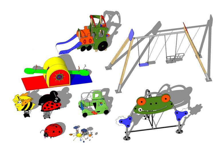 儿童娱乐设施组合SU模型【ID:136421949】