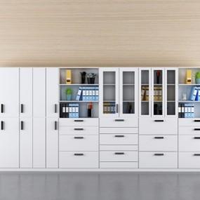 现代办公文件柜3D模型【ID:927833593】
