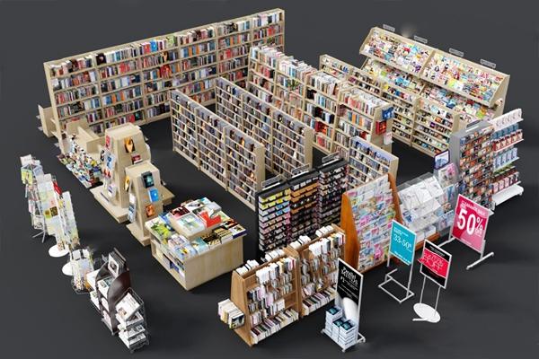 书柜3D模型【ID:920020568】