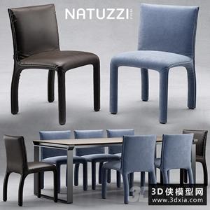 现代餐桌椅国外3D模型【ID:729295710】