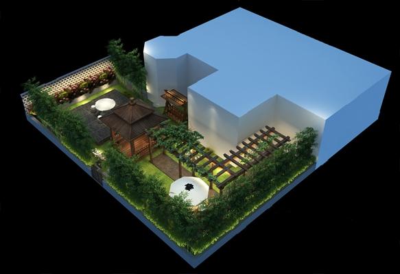 现代花园3D模型【ID:724887611】