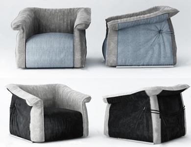现代懒人沙发3D模型【ID:634734952】