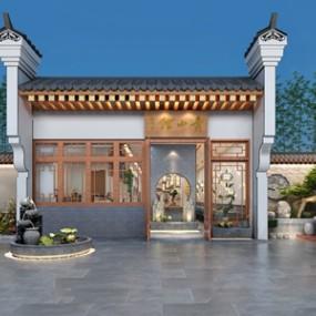 新中式餐厅 3D模型【ID:541545123】