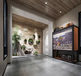 中式门厅玄关3D模型【ID:920799365】