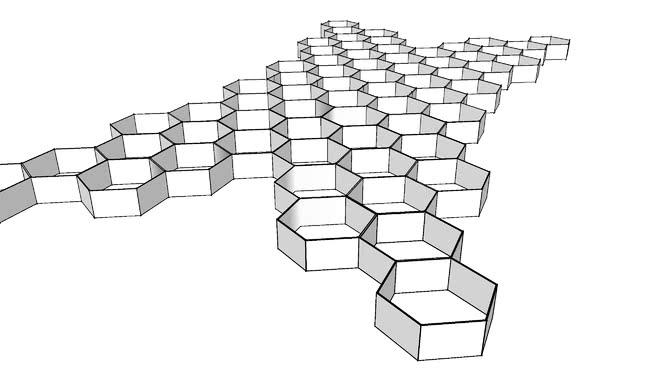 六邊形天花板SU模型【ID:538255467】
