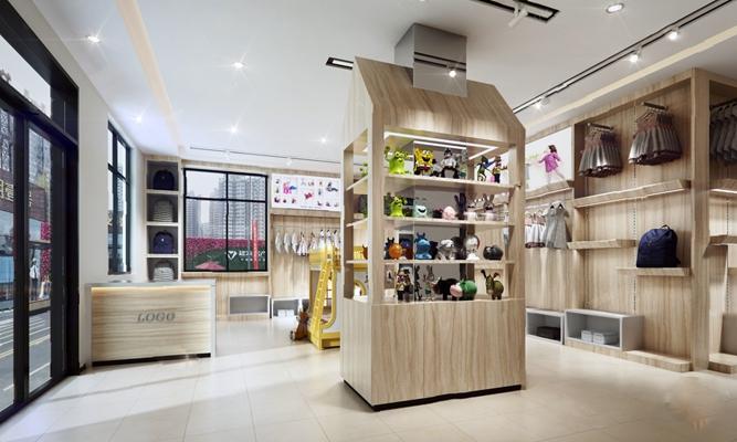 现代服装店3D模型【ID:124889218】