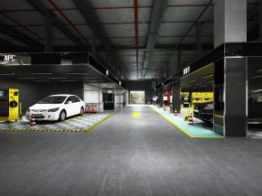 现代汽车修理美容店3D模型【ID:927823587】