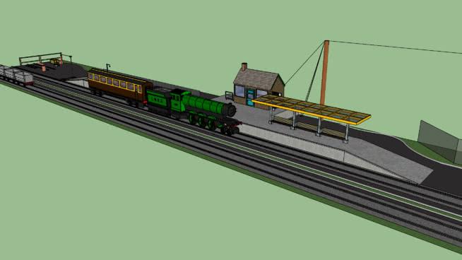 火车站SU模型【ID:739940238】