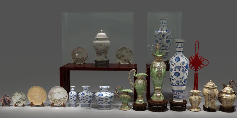 中式陶瓷器皿3D模型【ID:320601582】