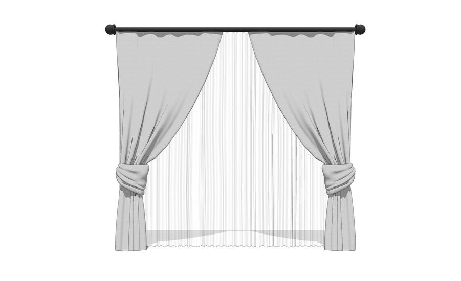 窗簾SU模型【ID:936425444】