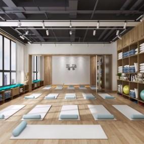 北欧瑜伽馆瑜伽教室3D模型【ID:528453026】