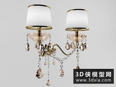 欧式壁燈国外3D模型【ID:829637808】