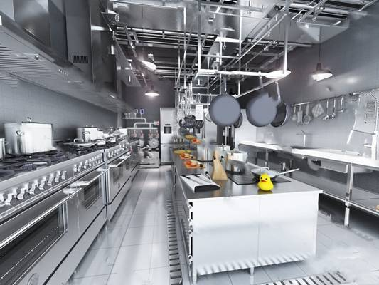 现代后厨3D模型下载【ID:419460781】