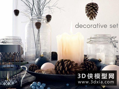 现代装饰品国外3D模型【ID:929472876】
