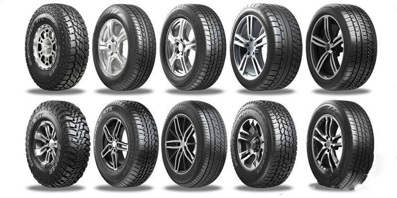 汽車輪胎組合3D模型【ID:928179977】
