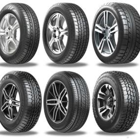 汽车轮胎组合3D模型【ID:928179977】