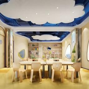 幼儿园活动室3D模型【ID:941979652】