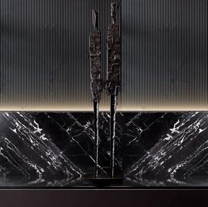 现代金属人物雕塑摆件3D模型【ID:331400820】
