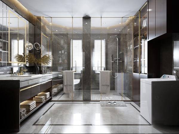 現代衛生間浴室3D模型【ID:547041523】