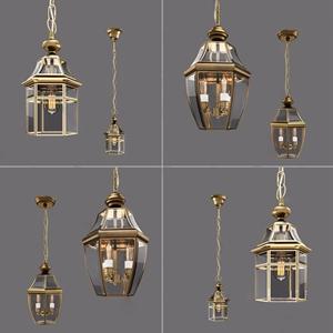 美式吊灯3D模型【ID:741358869】