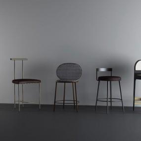 现代吧椅组合3D模型【ID:327925185】