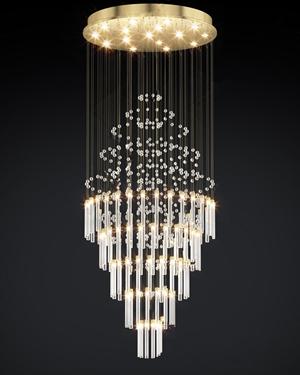 现代水晶大吊灯3D模型【ID:832383527】