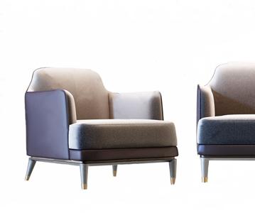 现代轻奢休闲沙发椅3D模型【ID:920813601】