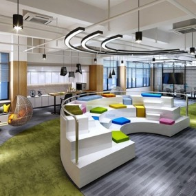 办公室休闲区3D模型【ID:828146161】