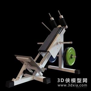 健身器材國外3D模型【ID:129844847】