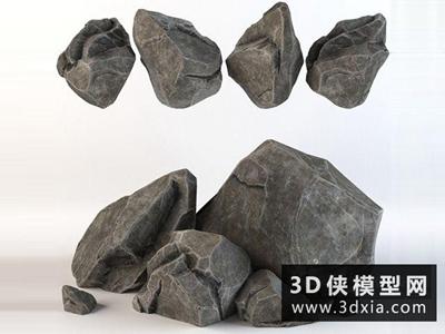 石頭國外3D模型【ID:329678358】