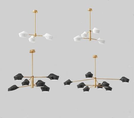 现代吊灯3D模型【ID:226224886】
