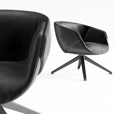现代皮革办公会议椅3D模型【ID:228424942】