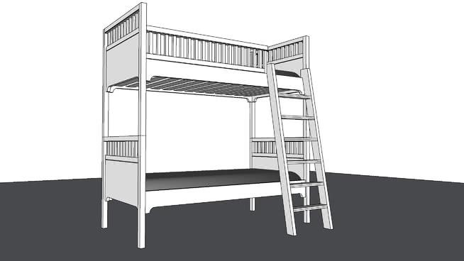两层儿童床SU模型【ID:538277055】