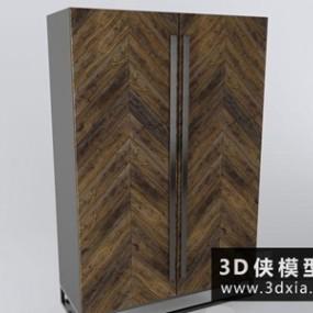 现代衣柜国外3D模型【ID:829342077】