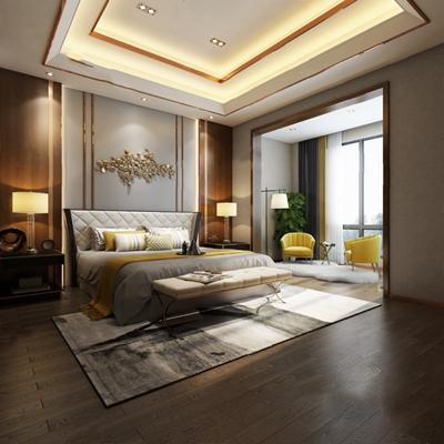 现代卧室3D模型【ID:124892392】