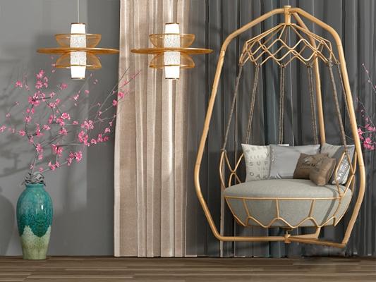 中式吊椅3D模型【ID:220607872】