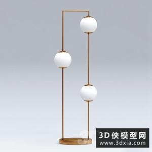 现代落地灯国外3D模型【ID:929322051】